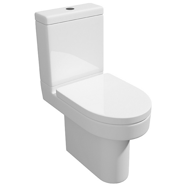 Crystal Close Coupled WC Pan With Cistern And Soft Close Seat 620mm