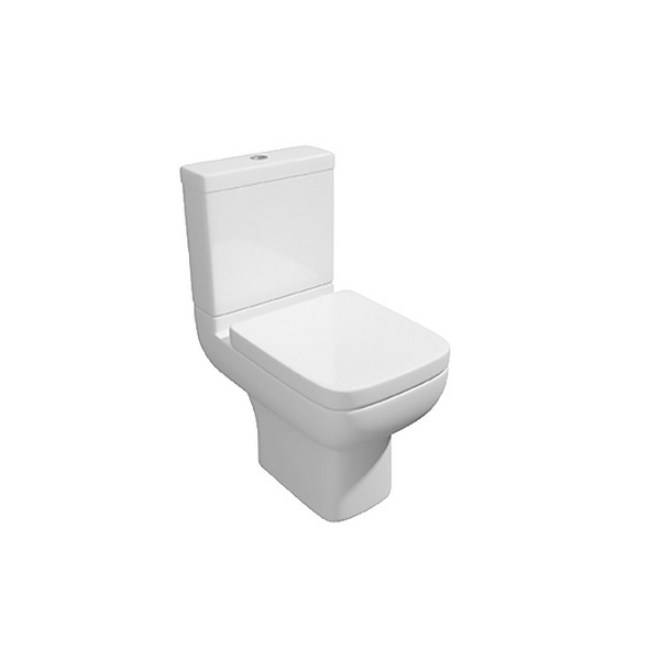 Status II Closed Coupled WC Pan With Cistern And Soft Close Seat 600mm