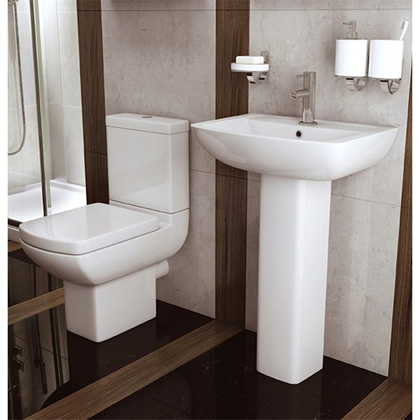 Alternate image of Signature 550mm 1 Tap Hole Basin And Full Pedestal