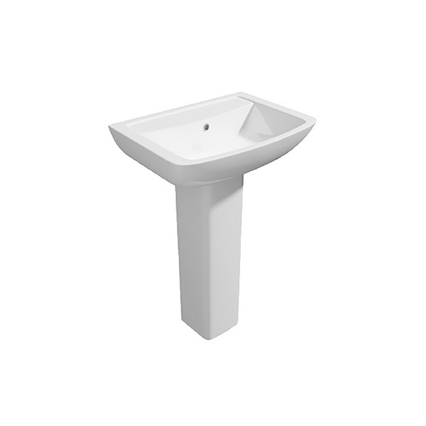 Signature 550mm 1 Tap Hole Basin And Full Pedestal