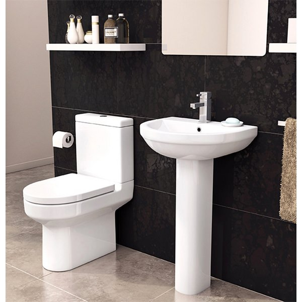 Alternate image of Crystal Close Coupled WC Pan With Cistern And Soft Close Seat 620mm