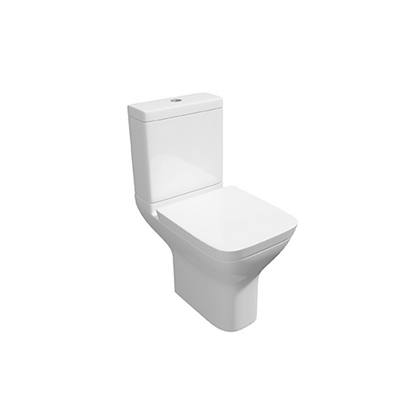 Wove Close Coupled WC Pan With Cistern And Soft Close Seat 595mm