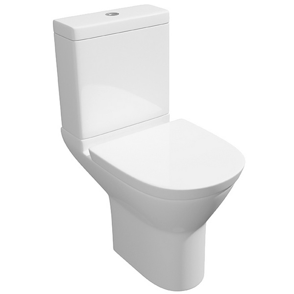 Wove Arc Close Coupled WC Pan With Cistern And Soft Close Seat