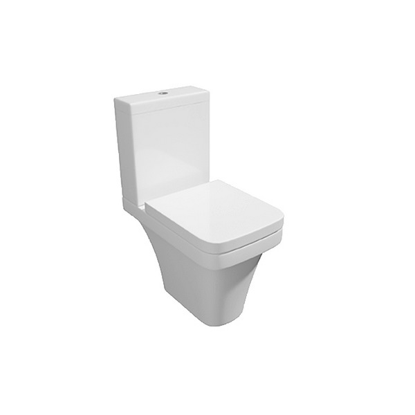 Hello Close Coupled WC Pan With Cistern And Soft Close Seat