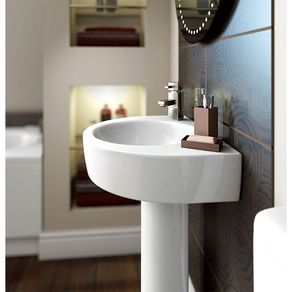 Additional image of Lux Realty 550mm 1 Tap Hole Basin With Full Pedestal