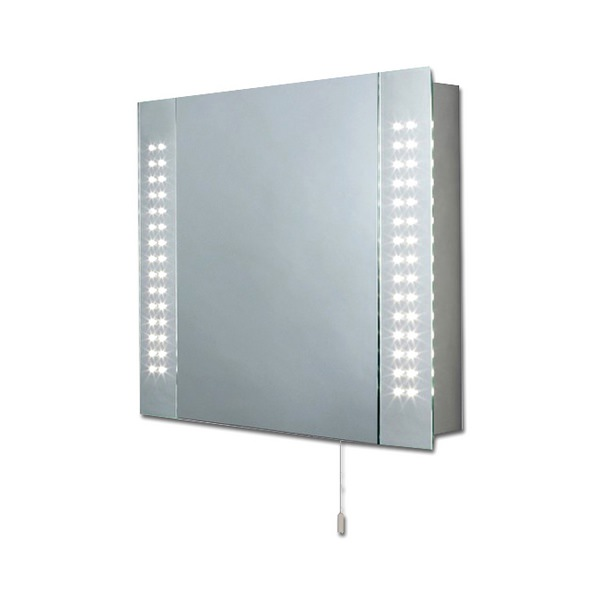 Alpha LED Mirrored Cabinet 650 x 600mm
