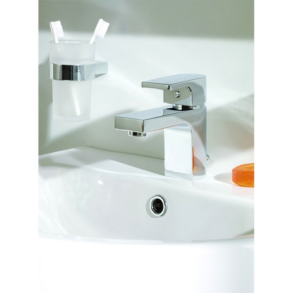 Additional image of Vertix Basin Mixer Tap With Click Waste