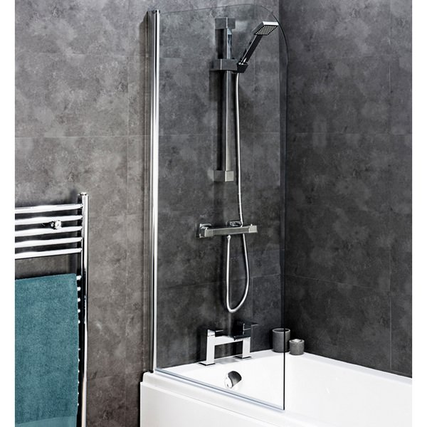 Montage Curved Top Bath Screen 800 x 1400mm