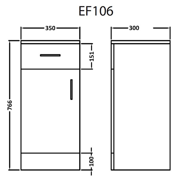 Technical drawing B3-16073 / EF106W