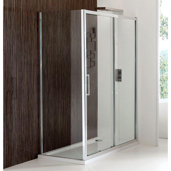 Champlain Ii 8mm Clear Glass Sliding Shower Door 1200mm
