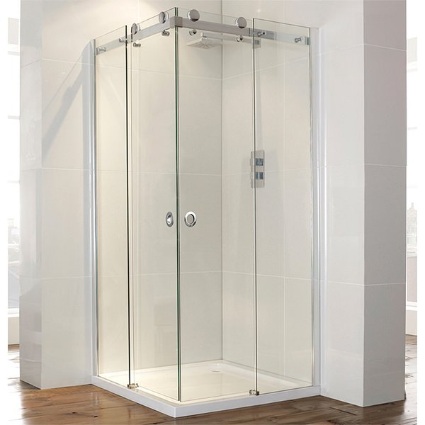 Champlain II Frameless Corner Entry Shower Enclosure 900mm