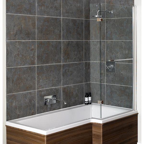 Avada L Shape Bath Screen 815 x 1500mm