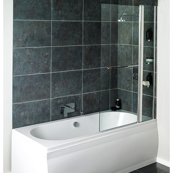 Avada Fixed Bath Screen With Shelves 1000 x 1500mm