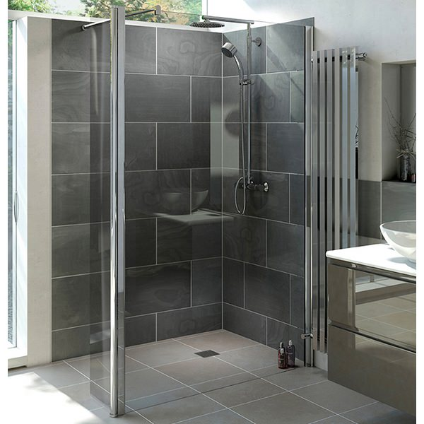 Mist 6 800mm Wetroom Shower Panel With 300mm Rotatable Panel
