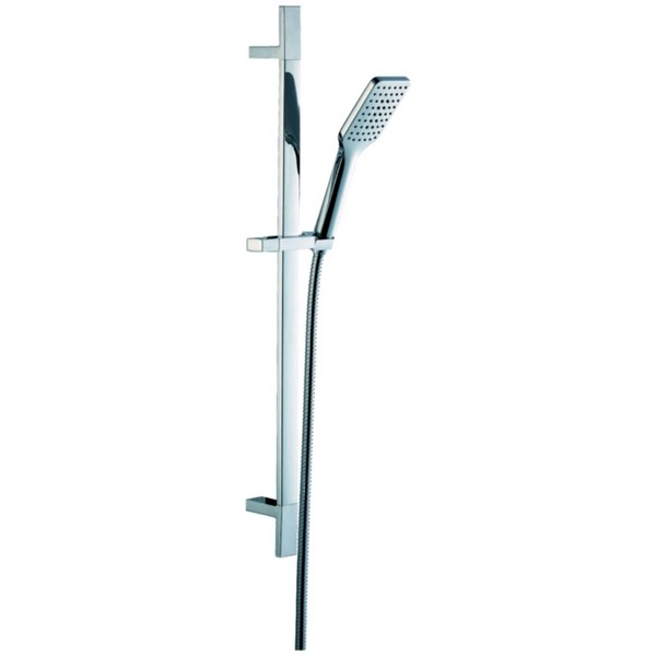EuroShowers SquareSpray Slide Rail Shower Set