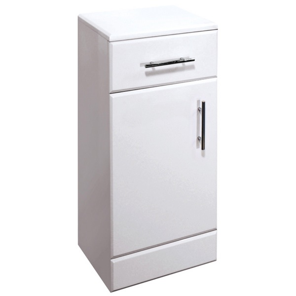 Chill Floor Standing 350mm White Cupboard Unit With Drawer And Door