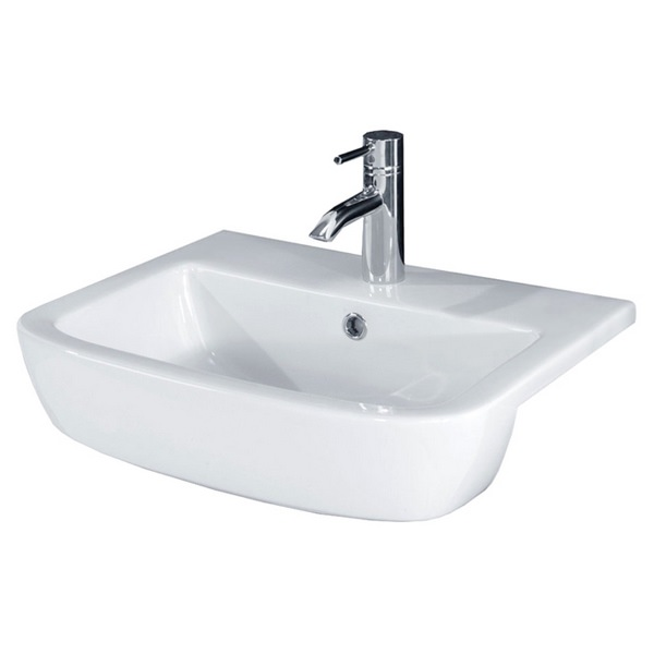 Bloom 520mm 1 Tap Hole Semi-Recessed Basin