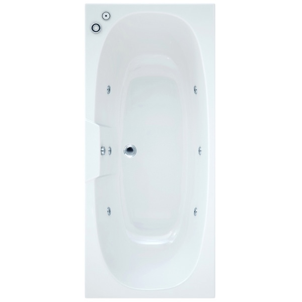 Arka 1700 x 750mm Bath With Wellness Whirlpool System Including Lights