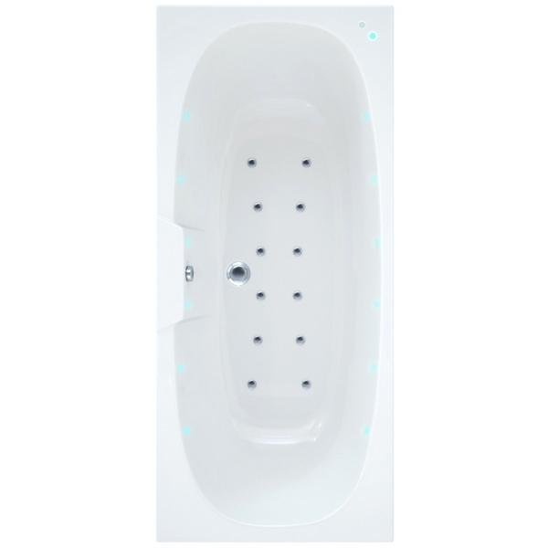 Arka 1700 x 750mm Bath With Wellness Airspa System Including Lights
