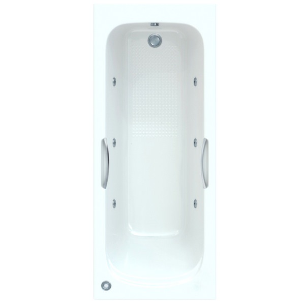 Fortuna 1600 x 700mm Single Ended Bath With Wellness Star Buy System