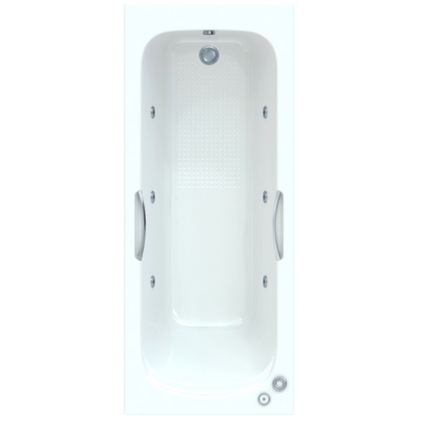 Fortuna 1700 x 700mm Bath With Wellness Whirlpool System Including Lights