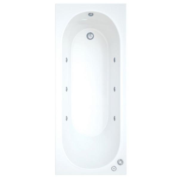 Skyline 1700 x 800mm Bath With Wellness Whirlpool System Including Lights