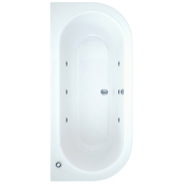 Ultimo 1700 x 800mm Bath With Wellness Whirlpool Star Buy System