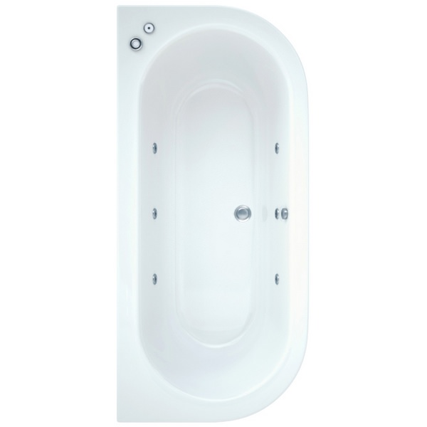 Ultimo 1700 x 800mm Bath With Wellness Whirlpool System Including Lights