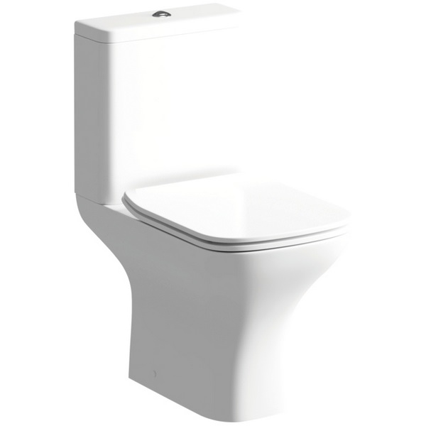 Evo Close Coupled WC Pan With Cistern And Soft Close Seat