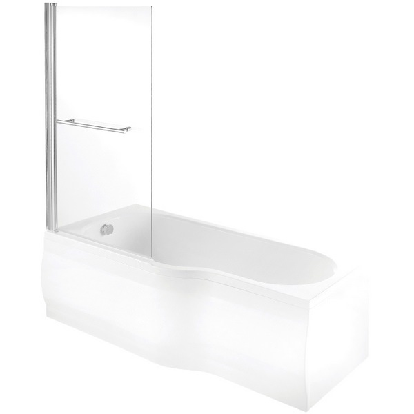 Avada Single Bath Screen 825 x 1400mm