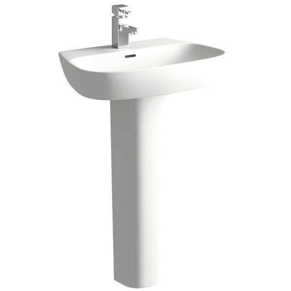 Balli 600mm 1 Tap Hole Basin With Full Pedestal
