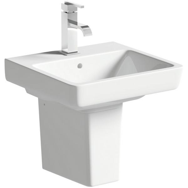 Vanilla 450mm 1 Tap Hole Basin With Semi Pedestal