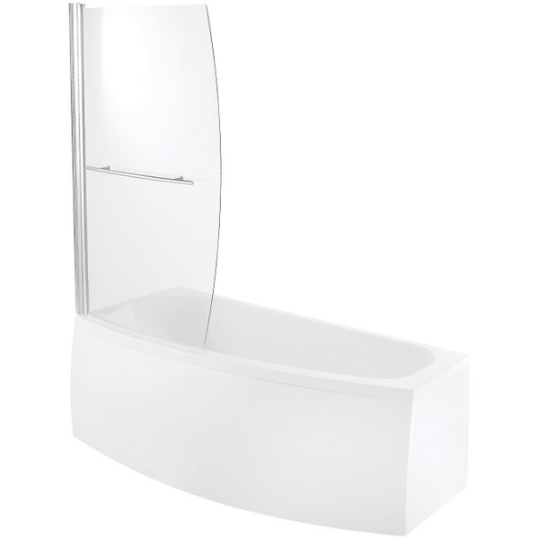Avada Space Saver Bath Screen 900 x 1400mm