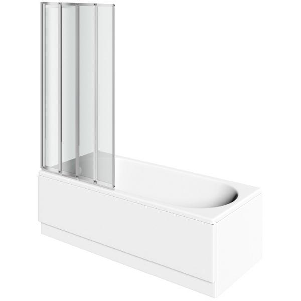 Avada 4 Fold Bath Screen 800 x 1400mm