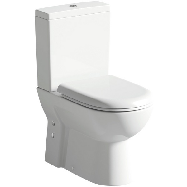 Smart Short Projection Close Coupled Pan And Cistern With Seat