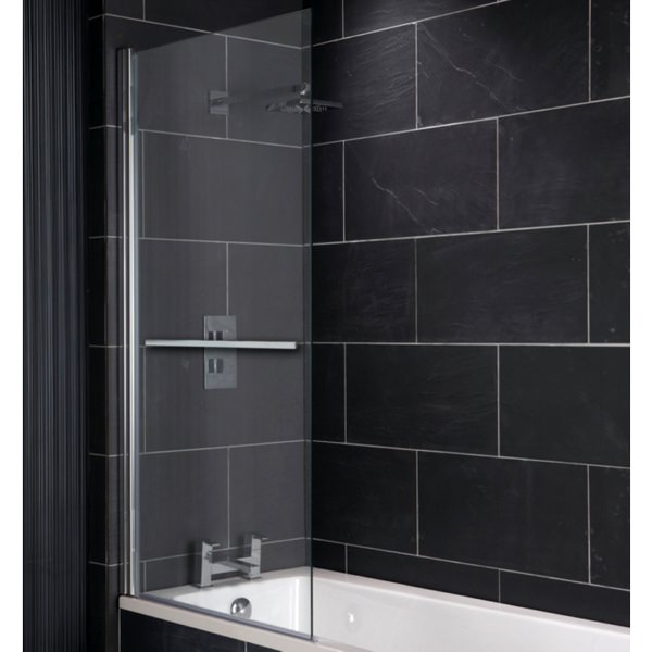 Champlain Square Bath Screen With Towel Rail 800 x 1400mm