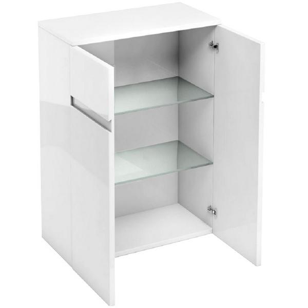 Aqua Cabinets D30 White 600mm Floor Standing Double Door Unit