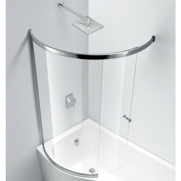 Champlain Fully Enclosed Sliding C Shape Bath Screen 874 x 1500mm