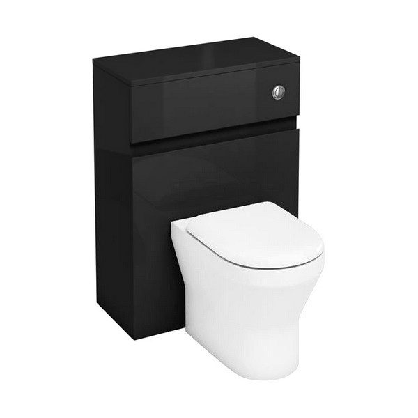 Aqua Cabinets D300 Grey 600mm Back To Wall WC Unit With Push Button