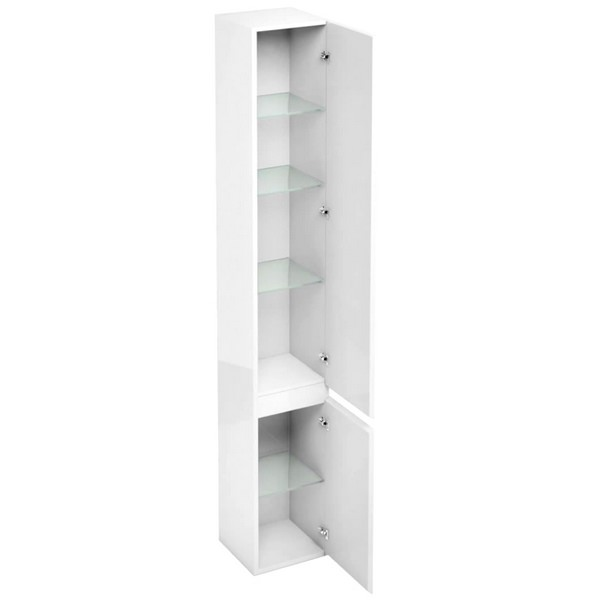 Aqua Cabinets D30 White Floor Standing Tall Unit 300 x 1900mm