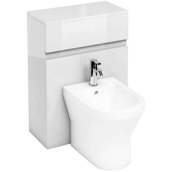 Aqua Cabinets D300 White 600mm Back To Wall Bidet Unit