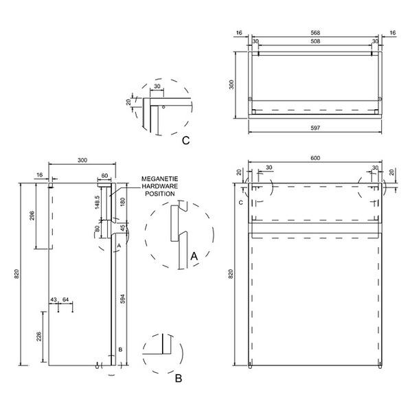 Technical drawing B3-11335 / B31W