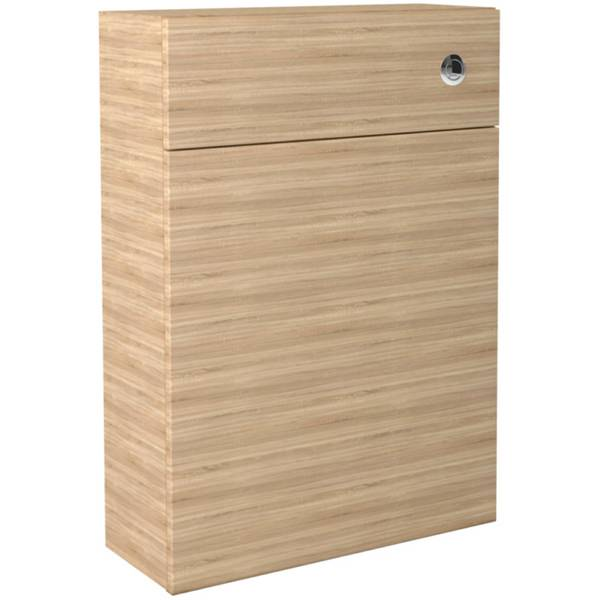 Noble Modular Natural Oak 600mm Full Height Back To Wall WC Unit