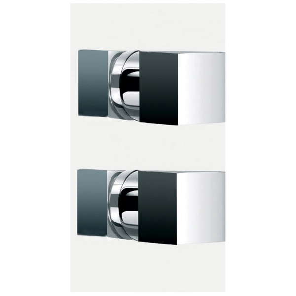 Stylo 3 Twin Square Concealed Thermostatic Shower Valve