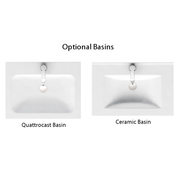 Additional image of Aqua Cabinets D450 White 600mm Floor Standing Double Door Vanity Unit