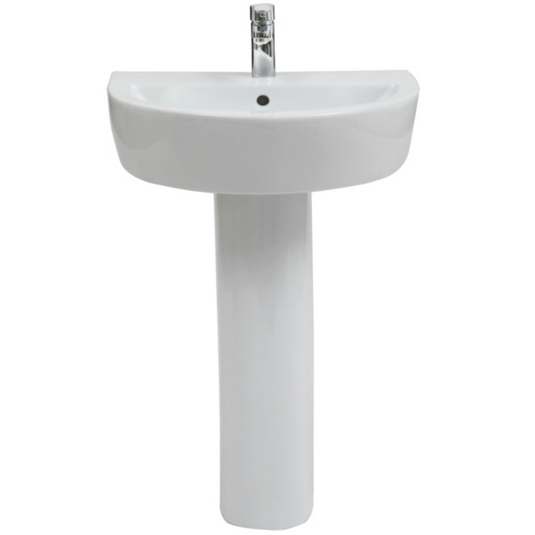 Focus 2 560 x 430mm Basin With Full Pedestal