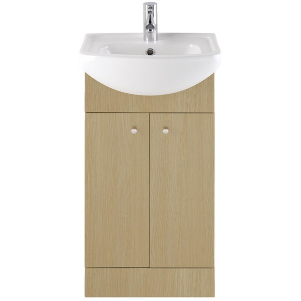 Vanity Unit Lights : Majestic Light Oak Vanity Unit 450mm