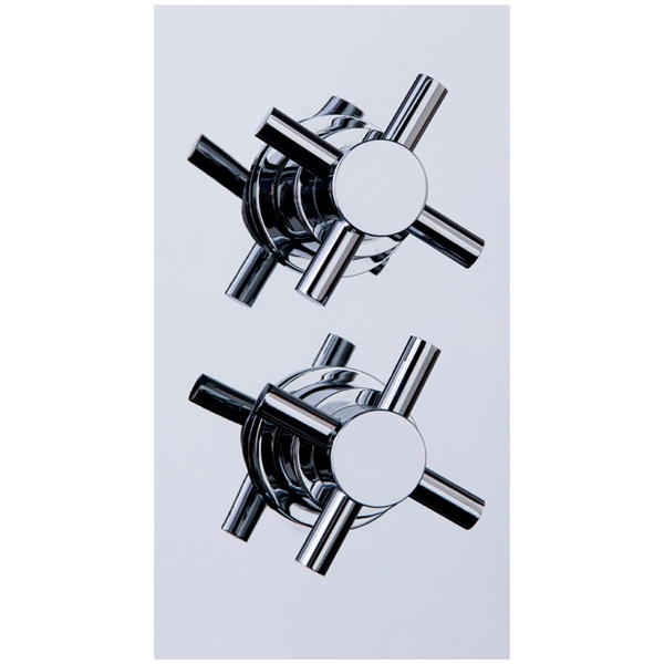 Stylo 1 Twin Crosshead Concealed Thermostatic Shower Valve