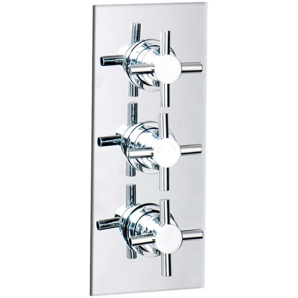 Cassellie Triple Crosshead Concealed Thermostatic Shower Valve