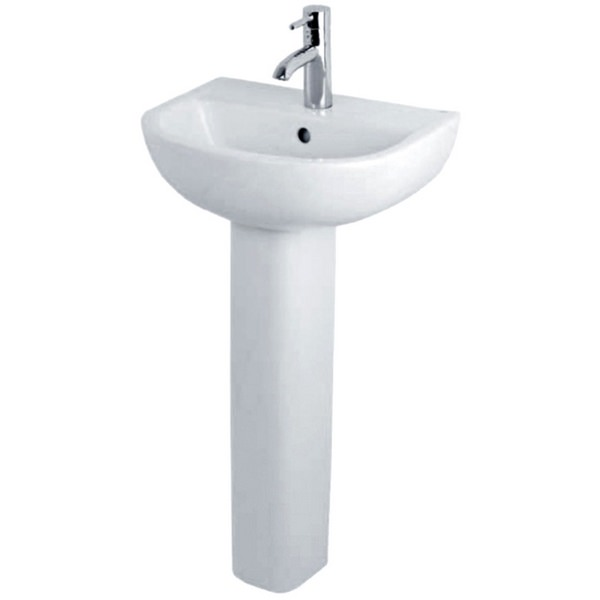 Tulip 450mm Basin With Small Full Pedestal